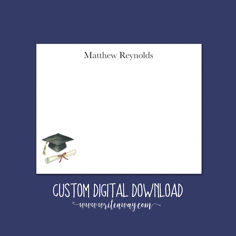 Printable Graduation Note Cards  Graduation  Digital image 0