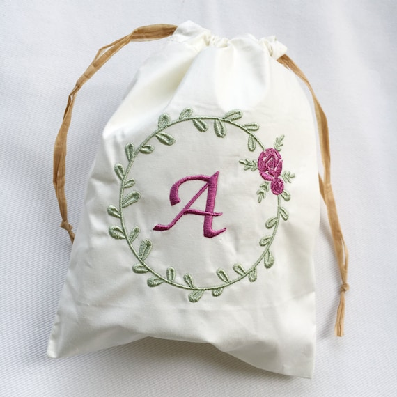 Rose Machine Embroidery Design Floral Wreath Machine Embroidery