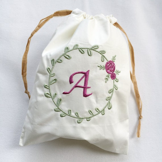 Rose Machine Embroidery Design Floral Wreath Machine Etsy