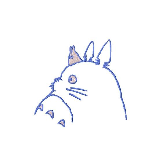 Totoro bordado diseño Totoro máquina bordado patrón patrón de | Etsy