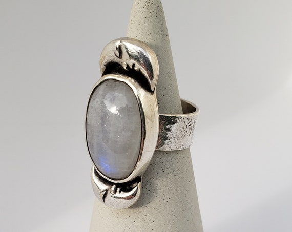 Over The MoonStone Ring
