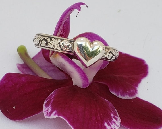 Sweet Heart Sterling Ring