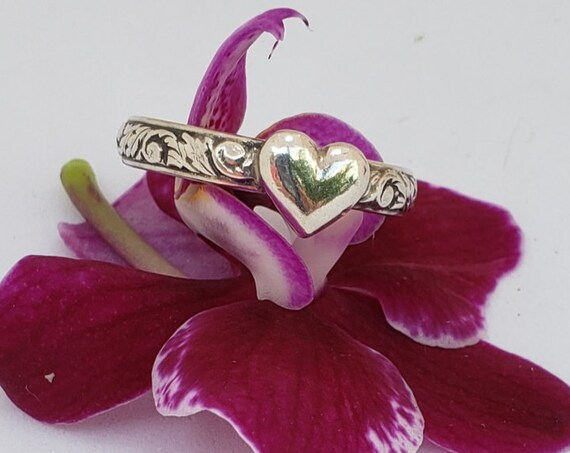 Sweet Heart Sterling Ring