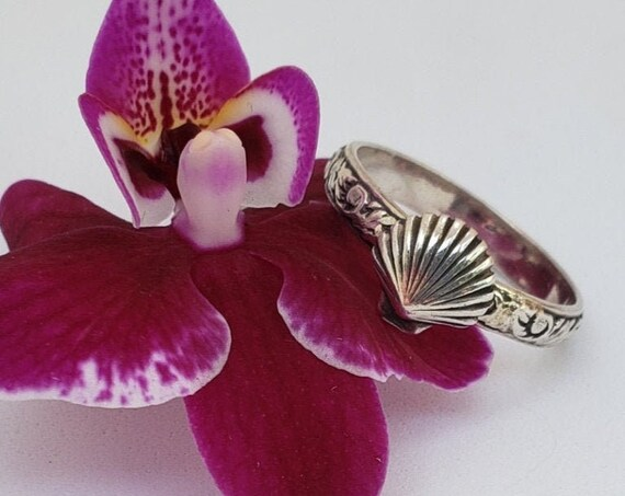 Sterling Seashell Stack Ring