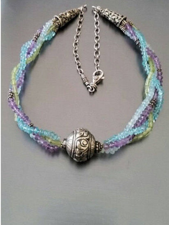 Colors of the Carribean Gemstone Necklace