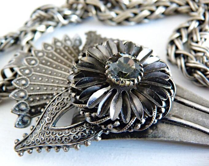 Long modernist sautoir necklace - Canadian designer KIEN