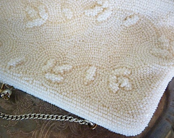 Embroidered beads handbag - made in Japan