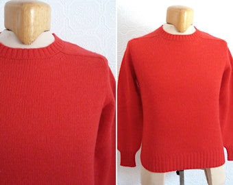 NOS - WOLSEY 100 % pure virgin wool red sweater / knit