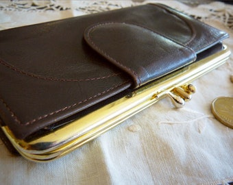 BUXTON Genuine leather brown wallet / purse