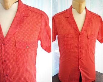 Miller short sleeves red shirt