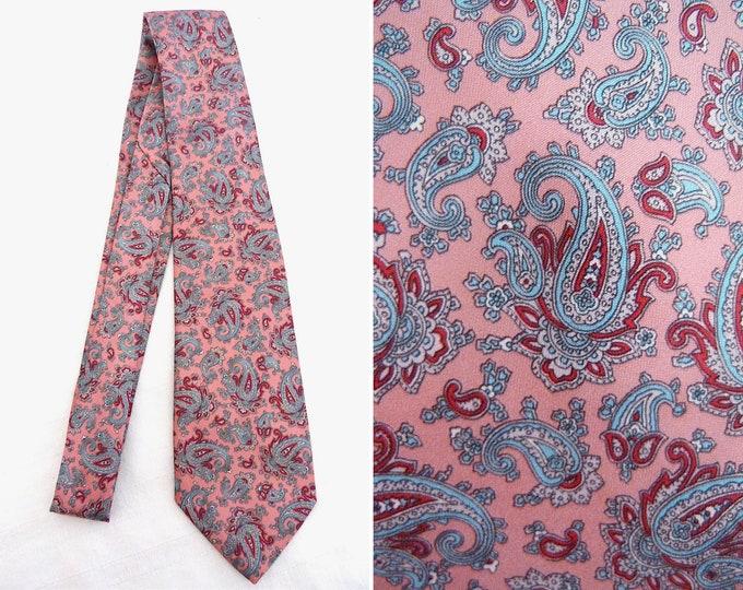 Paisley print pink tie - Monsieur Pierre
