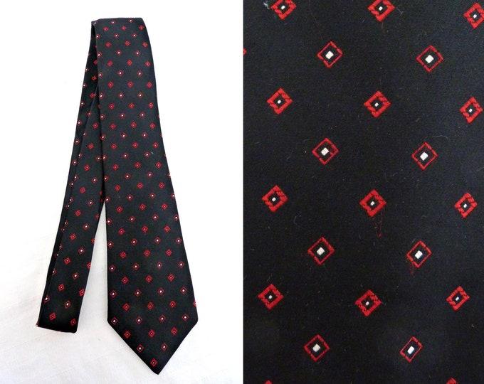 BOVET black tie - lozenge pattern