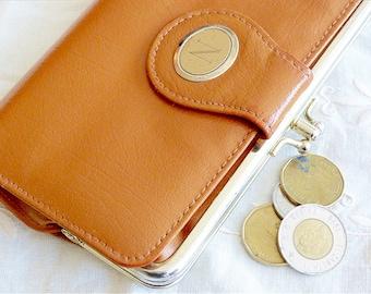 AMBASSADOR Genuine leather brown wallet / purse