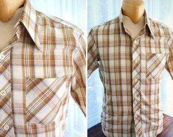 Baymart short sleeves plaid shirt