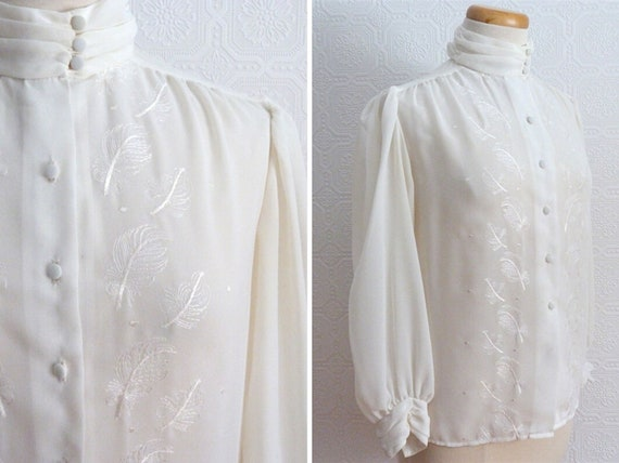 Embroidered Chiffon Blouse