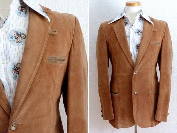 1970s brown suede jacket