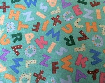 Nursery Black Ivory Gray Chill Blue Pink Denim Navy Alphabets Premier Prints ABC Pair of Rod Pocket Panels ABC Curtains