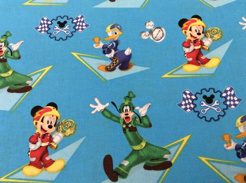 handmade new. Mickey and Friends curtain valance 41 wide across x 15 longheight in 100/% cotton
