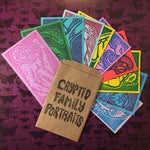 CRYPTID FAMILY PORTRAITS - Surprise/Mystery Colorway Pack - 10 Miniature 3 x 5 in. Prints, Ready-to-Ship