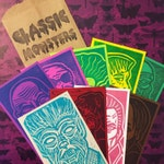 CLASSIC MONSTERS Surprise/Mystery Colorway Pack - 10 Miniature 3 x 5 in. Prints, Ready-to-Ship