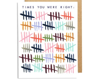 Times You Were Right Single Card: Blank Inside