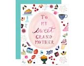 Grandmother Single Card: Blank Inside