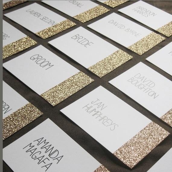 RESERVED for Alyssa Glitter Place Cards