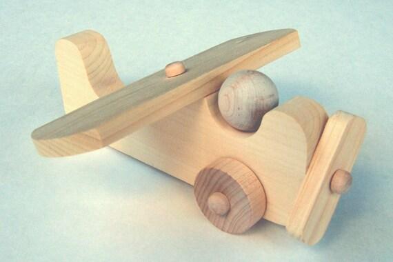 Diy Craft Kit Wooden Plane Wood Airplane Push Toy