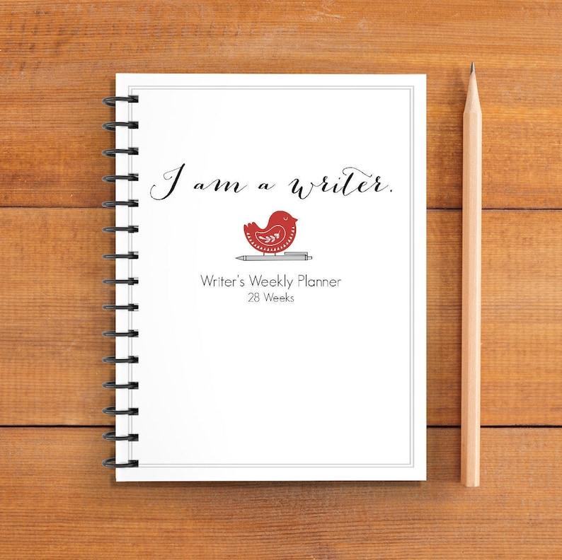 I Am a Writer 28 Week Writer's Planner Spiral Bound image 0