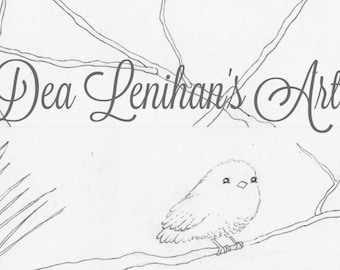 Gorgeous Bird Garland Coloring Page