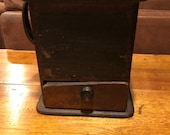 1800 39 s Antique quot Fast Grinder quot the Challenge wooden- cast iron coffee grinder Mill- with Intact paper Label
