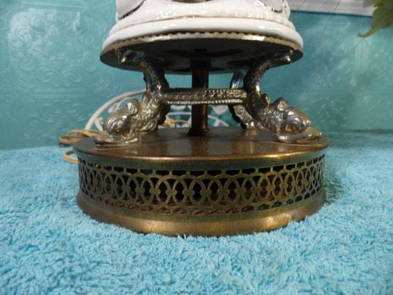 BaseItalia Capodimonte antigua Vintage porcelana Serpentene azul 2728 rosa lámpara rojo Estilo tabla latón oro SzpqUGMV