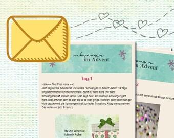 Email Adventskalender für Schwangere