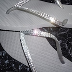 Flip Flops With Crystals For Weddings