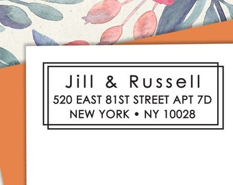 Self-inking CUSTOM STAMP, Pre Inked/self-inking, Address Stamp, Custom Address Stamp, Housewarming Gift, library or business stamp, b5-2