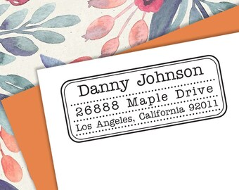 Self-inking CUSTOM STAMP, Pre Inked/self-inking, Address Stamp, Custom Address Stamp, Housewarming Gift, library or business stamp, C6-36-1
