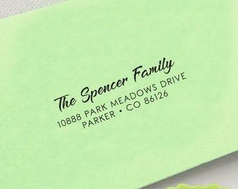 CUSTOM pre inked address STAMP from USA, custom address stamp, pre inked address stamp, rsvp stamp, return address stamp with proof - c6-9