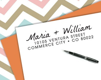 Self-inking CUSTOM STAMP, Pre Inked/self-inking, Address Stamp, Custom Address Stamp, Housewarming Gift, library or business stamp, b5-69