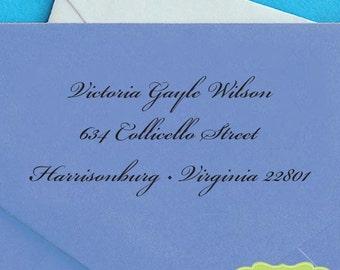 Custom Address Stamp, Pre Inked Return Address Stamp, Personalized Address Stamp, Self Ink Custom Address Stamp, Return Address Stamp c6-20