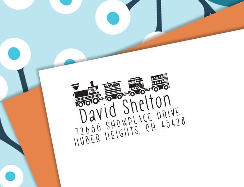 Self-inking CUSTOM STAMP Pre Inked/self-inking Address image 0