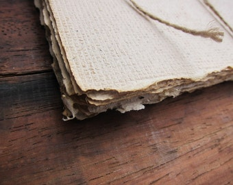 "Recycled Handmade Tea paper sheets, Decorative paper, Writing paper, Craft paper, Textured paper, Naturally dyed paper, 6"" x 8.5"", A5 size"