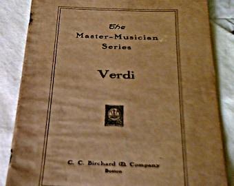 1912 The Master Musician Series Verdi Sheet Music