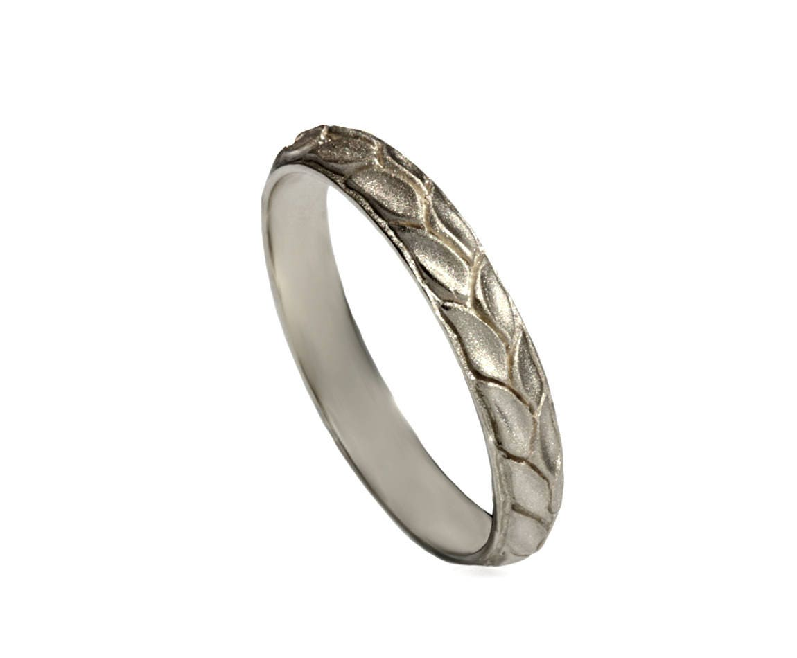 50: Engraved Wedding Band With Leaves At Websimilar.org