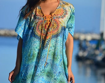 Light Embellished Maxi long kaftan with soft luxurious feel a perfect summer outfit 420
