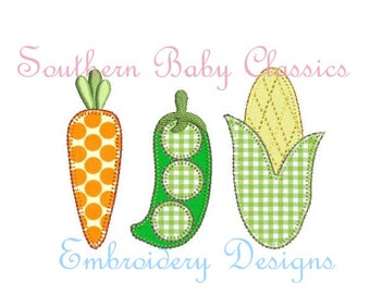 Vegetable Embroidery Etsy