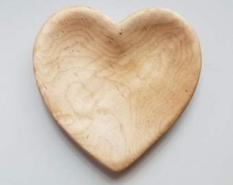 Heart Bowl in Curly Maple