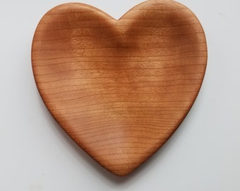 Heart Bowl in Cherry