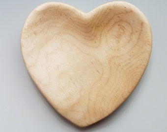 Heart-Shaped Spoon Rest in Curly Maple