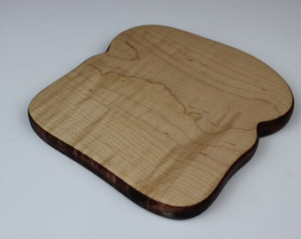 Toast with Crust Board in Curly Maple