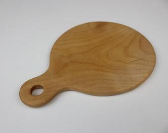 Small Circle Bar Board in Flame Birch